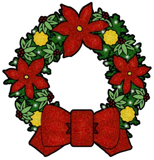 Christmas Clip Art - Christmas Wreath Clipart