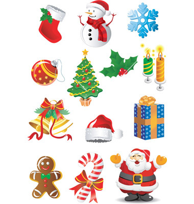 Christmas Clip Art Vector .-christmas clip art vector .-11
