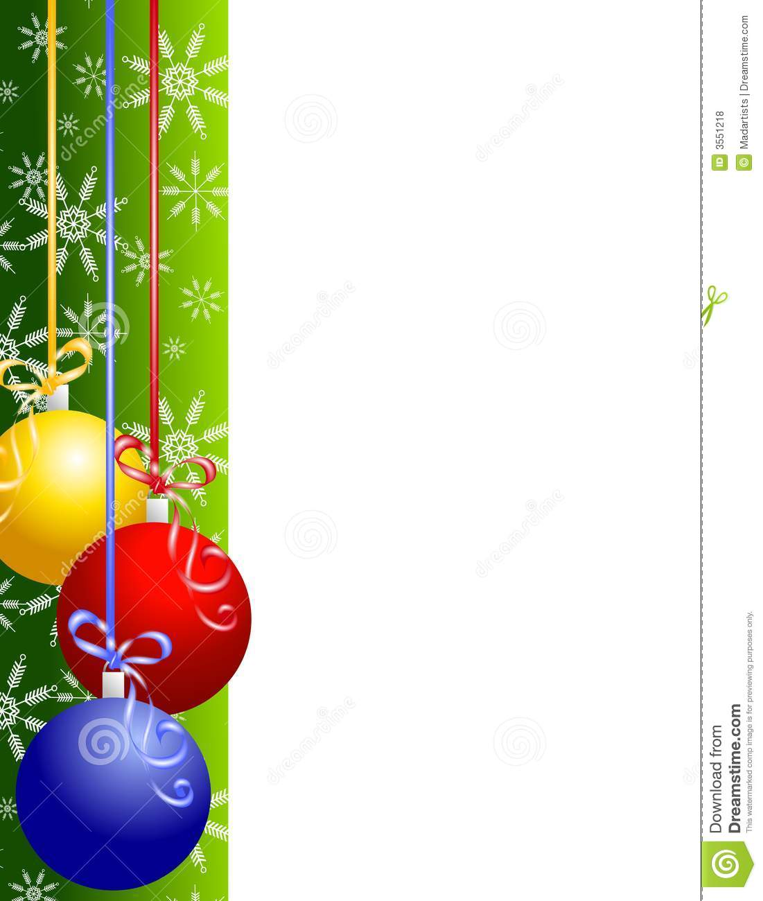 Christmas Clipart Borders Christmas Ornaments Border 3551218 Jpg