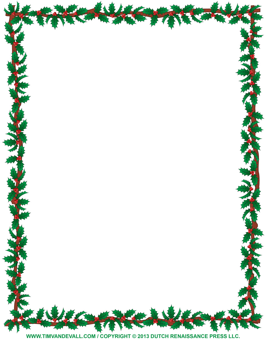 christmas clipart borders - Holly Clipart Border