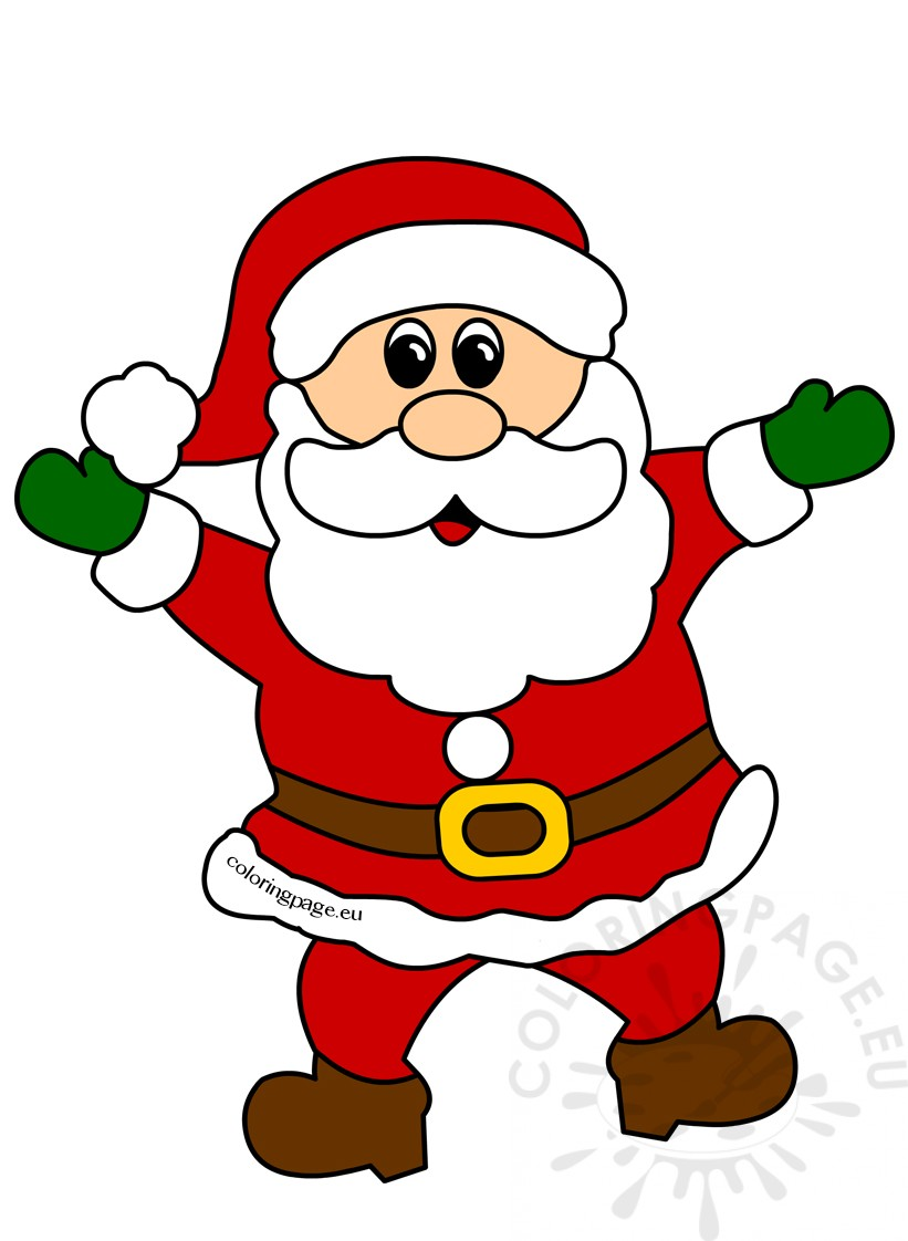 Cheerful Santa Claus Christmas clipart