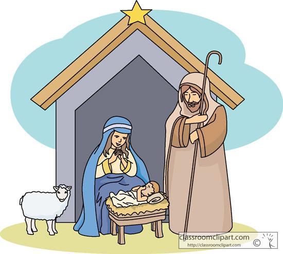 Christmas Clipart Christmas Nativity Scene 04 Classroom Clipart