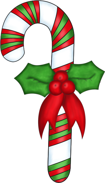 Free christmas background clipart | Christmas Candy Cane with Holly - PNG  and Paint Shop Pro Tube