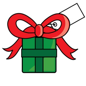 Free Gift Clip Art Image: Clip Art Illustration of A Christmas Gift With a  Red