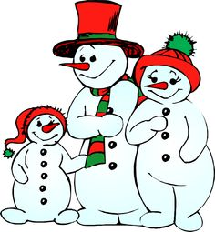 Christmas Clipart | Snowman . - Winter Holiday Clip Art