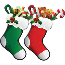 Christmas Clipart Snowmen And Stockings Modern