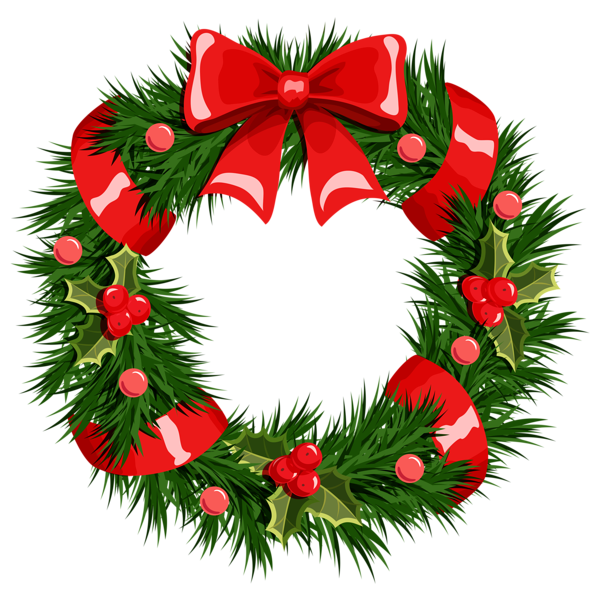 Christmas Clipart Wreath Free .
