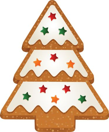 christmas cookie clip art free | Clip Art of Christmas Tree 2 Cookie