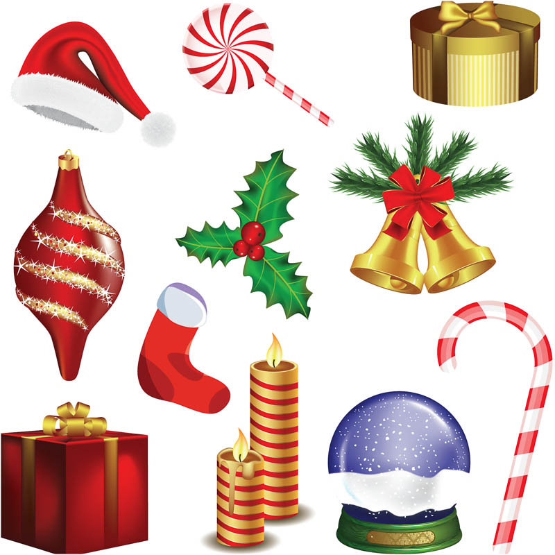 Christmas Decorations Clipart | Quotes. -Christmas Decorations Clipart | quotes. Christmas decoration set vector |  Vector Graphics Blog-6