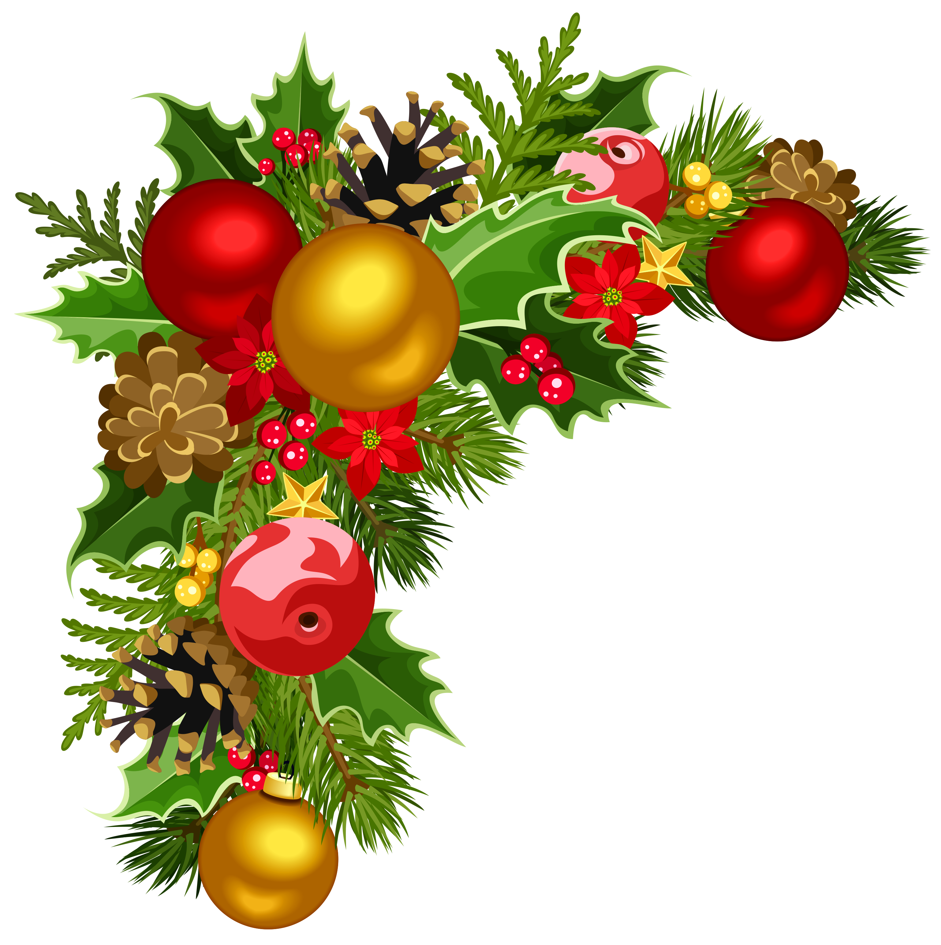 Christmas Decorations Clipart u2013 Happy Holidays!