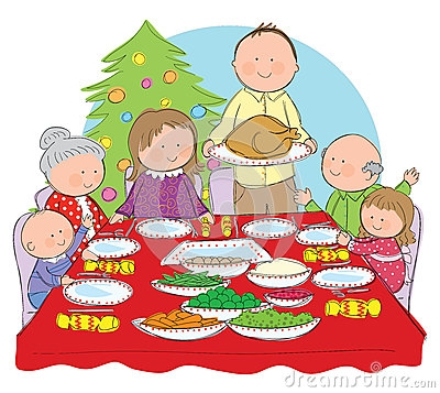Christmas dinner clipart images - ClipartFest