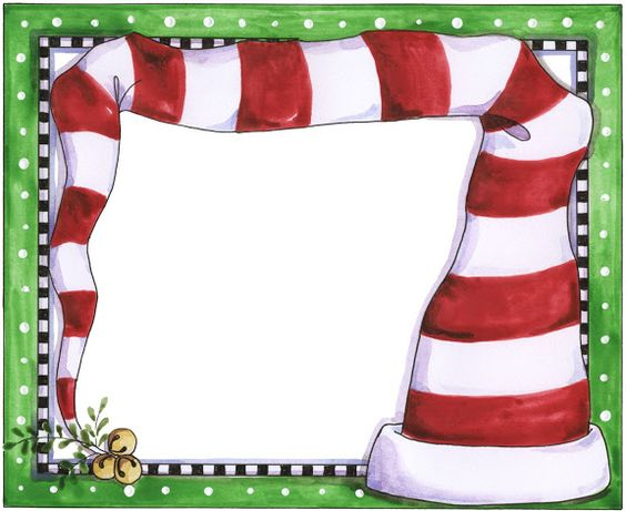 CHRISTMAS ELF HAT FRAME CLIP ART PRINTABLE