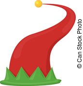 ... christmas elf hat. vector illustration - cartoon red and... ...