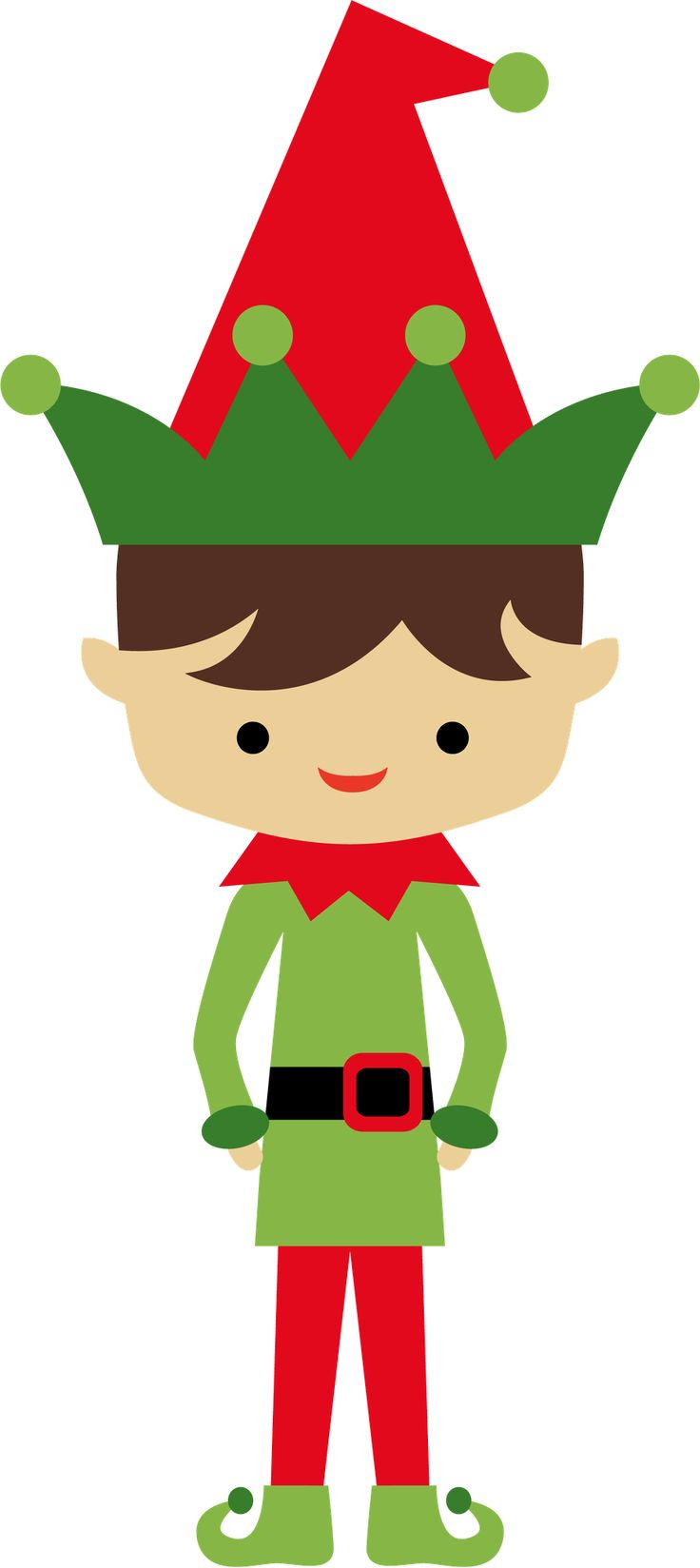 CHRISTMAS ELF LITTLE BOY CLIP ART