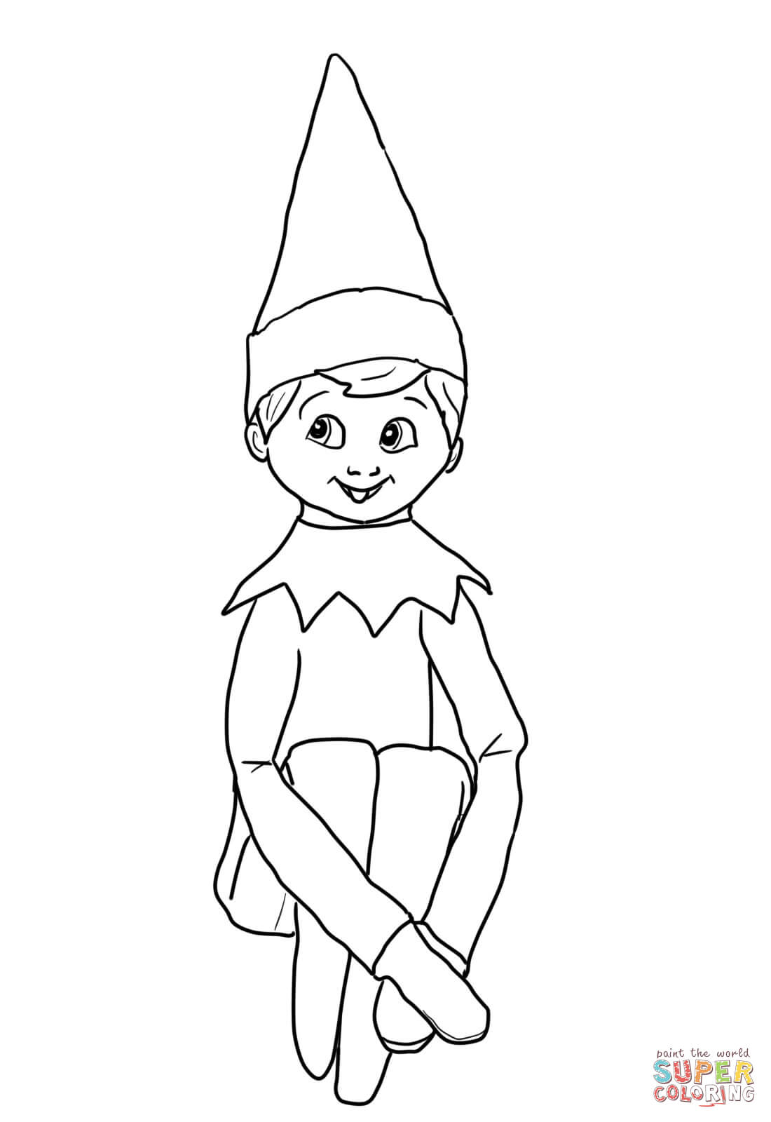 Christmas Elf On Shelf Coloring Online-Christmas Elf On Shelf Coloring Online-2