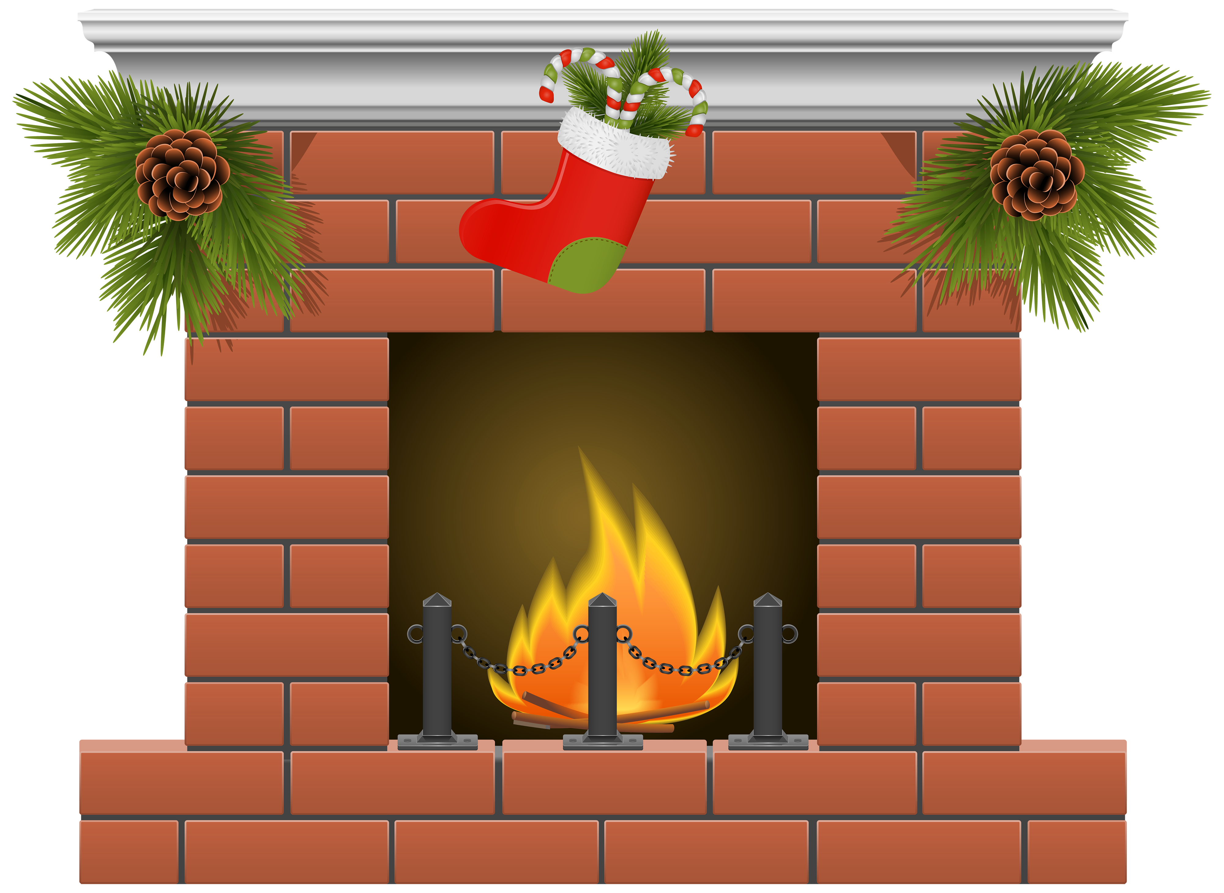 Christmas Fireplace Png ..