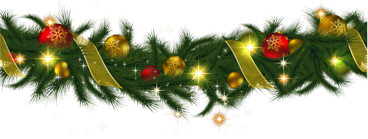 Christmas garland clip art .