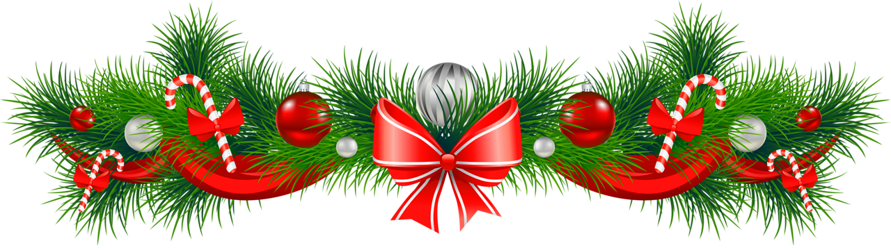 Christmas Garland Decorations - Free Christmas Clip Art Transparent Background