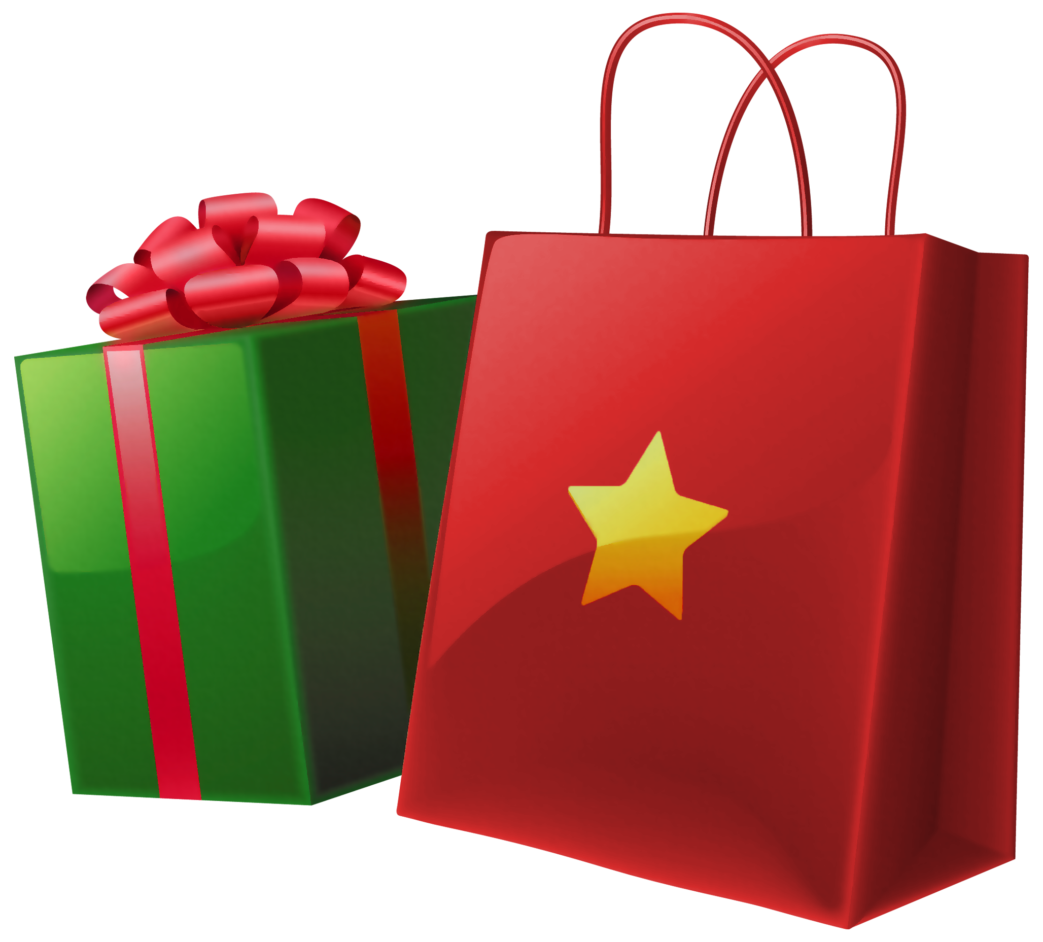 Christmas Gift Bag Clipart #1