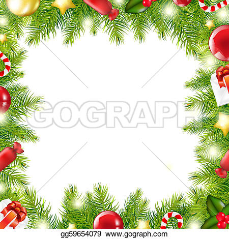 Christmas Gift Border u0026middot; Christmas Tree Border