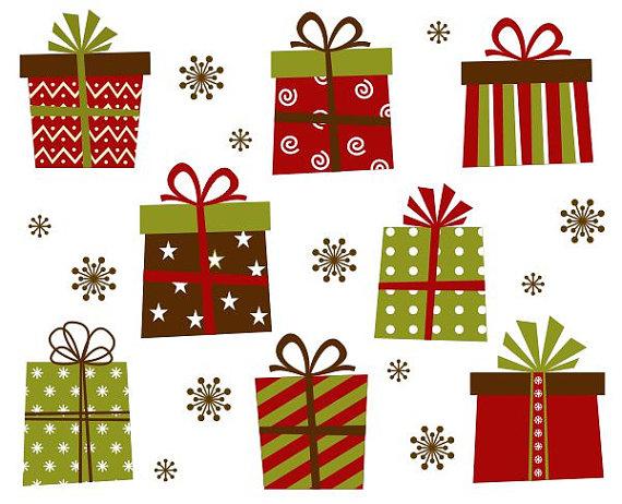 Christmas Gift Boxes Clip Art Xmas Giftb-Christmas Gift Boxes Clip Art Xmas Giftboxes Clipart Instant-2