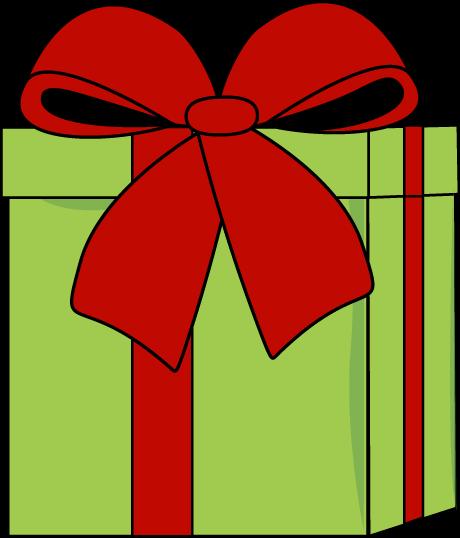 Christmas Gift With A Big Bow - Christmas Gift Clip Art