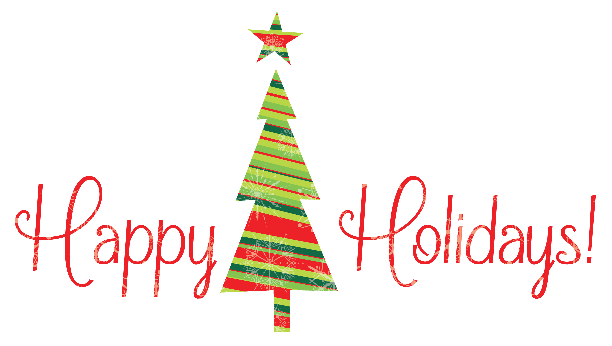 Christmas happy holidays clipart kid