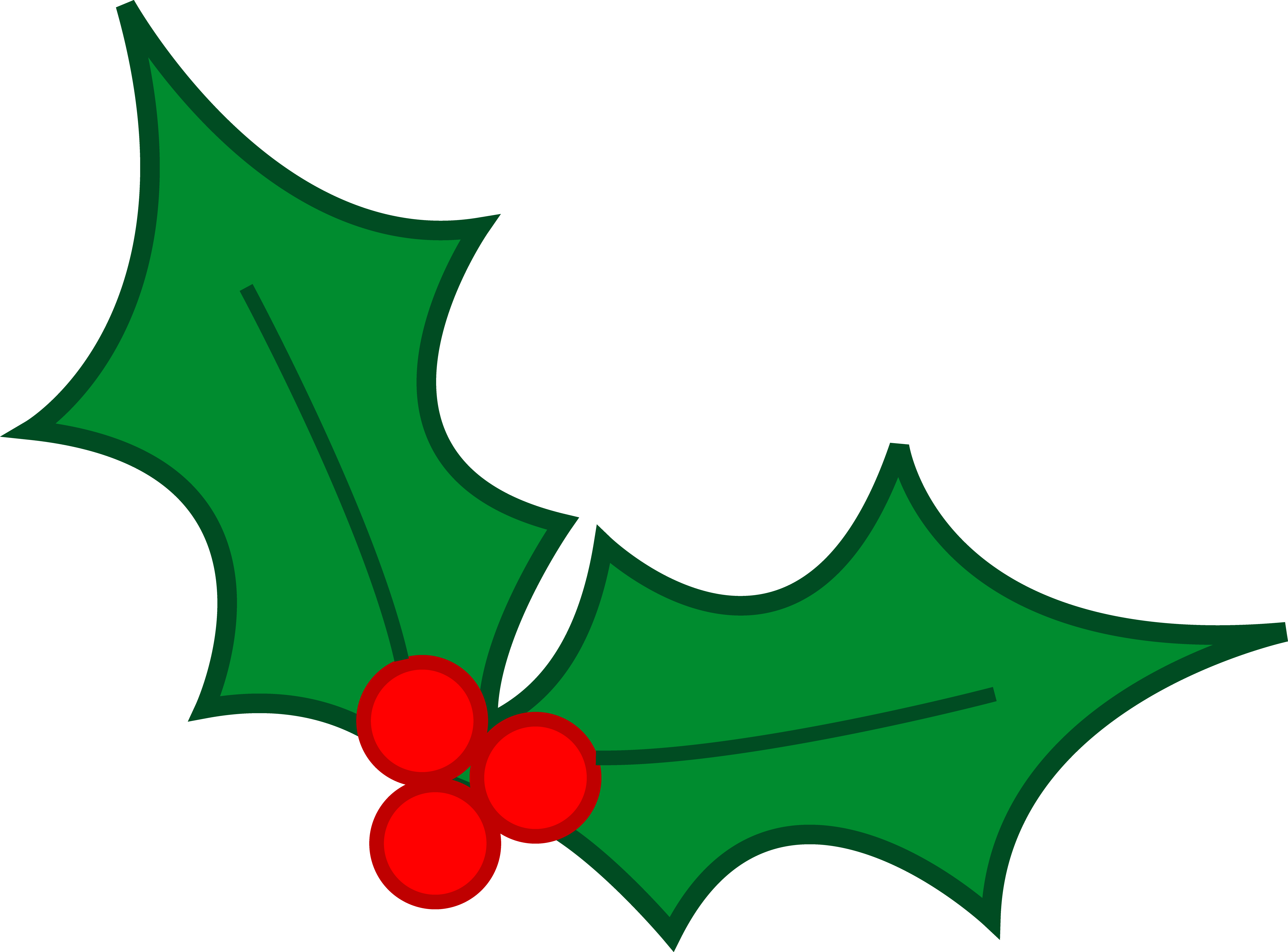 Christmas Holiday Clipart. Green Christm-Christmas holiday clipart. Green Christmas Holly Leaves .-3