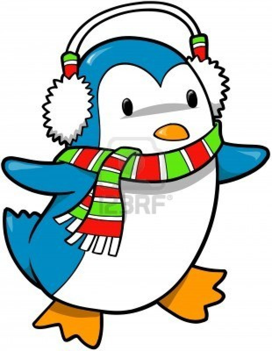 Christmas Holiday Penguin .