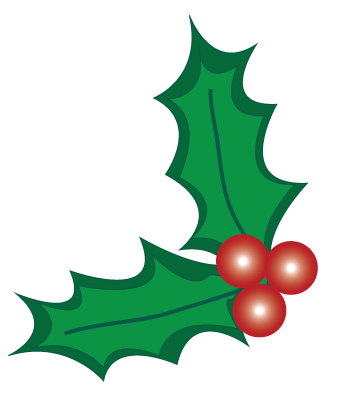 Christmas Holly Berry Clipart .