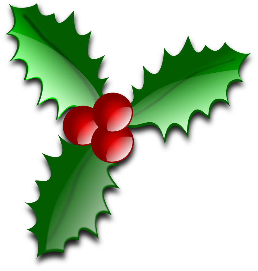 Christmas Holly Clip Art U0026middot; «-Christmas Holly Clip Art u0026middot; «-4