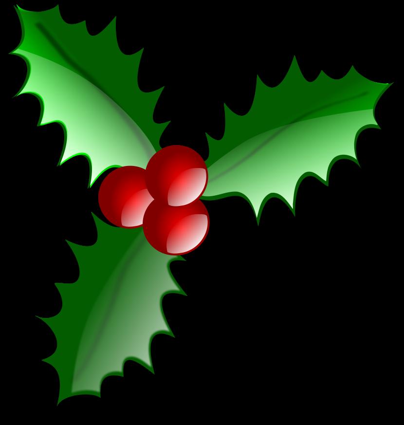 Christmas Holly Clip Art U0026middot; «-Christmas Holly Clip Art u0026middot; «-1