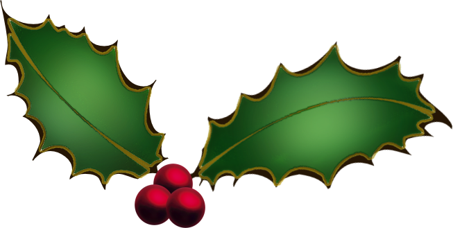 Christmas Holly Clipart-christmas holly clipart-9