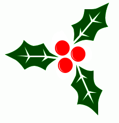 christmas holly clipart - Free Holly Clipart