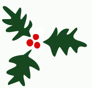 Christmas Holly Clipart-christmas holly clipart-12