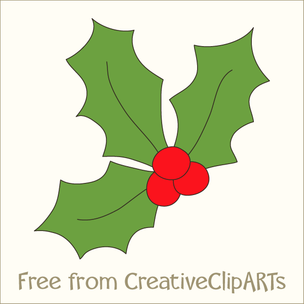 Christmas Holly Clipart .