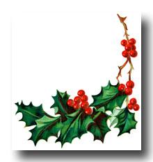 Christmas Holly Clipart-christmas holly clipart-7
