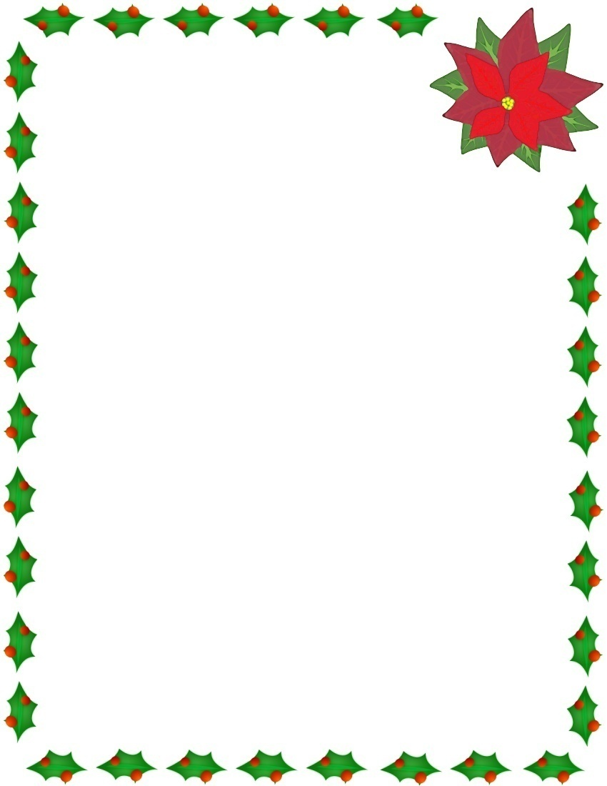 christmas letter clip art . - Holly Clipart Border