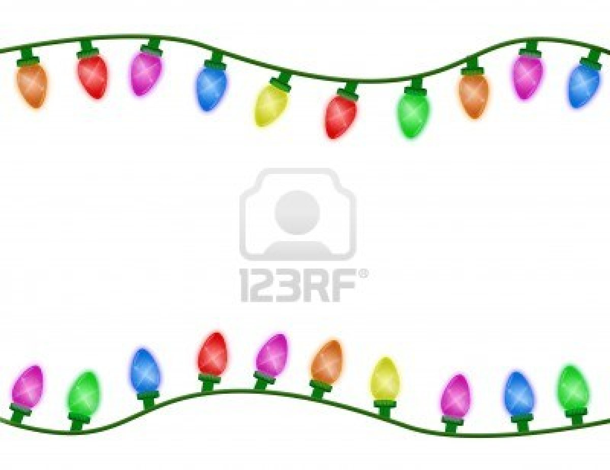 Christmas Light Border Clip Art Christmas Lights Border