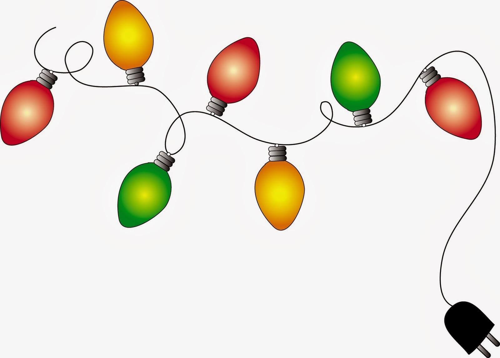Christmas lights clipart transparent background