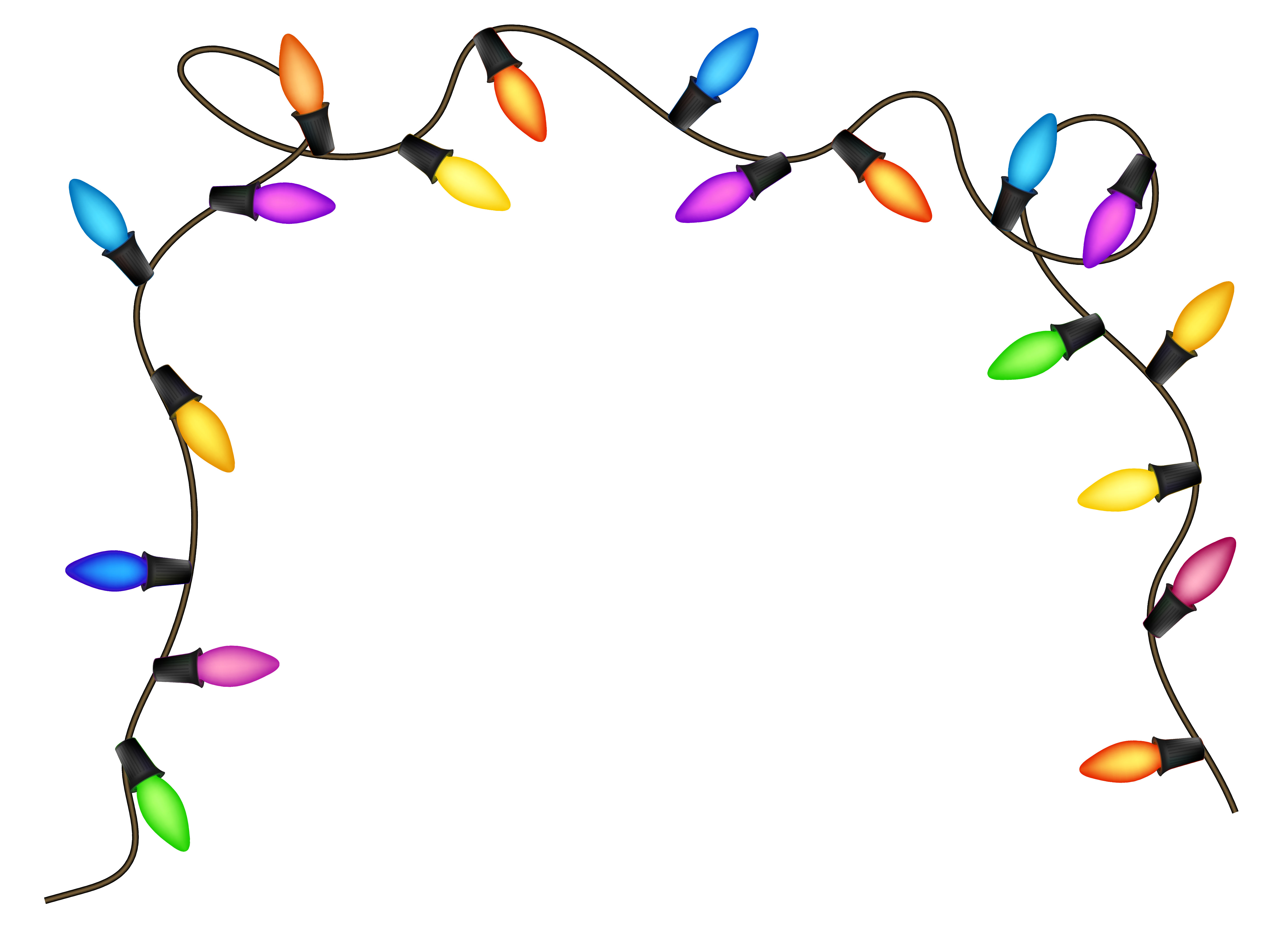 Christmas lights clipart transparent
