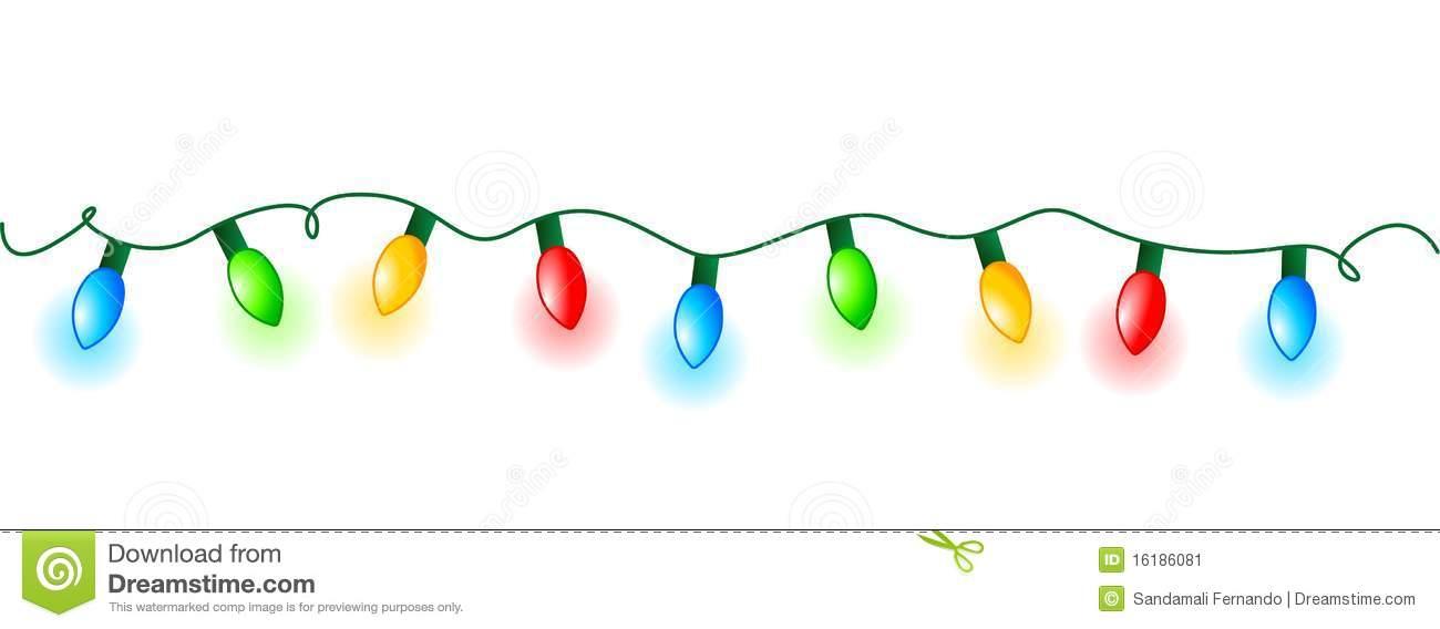 Christmas Lights Footer .
