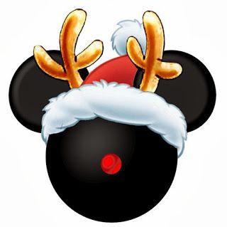 CHRISTMAS MICKEY MOUSE CLIP ART | Celiau0026#39;s party | Pinterest | Disney, Clip art and Mickey head