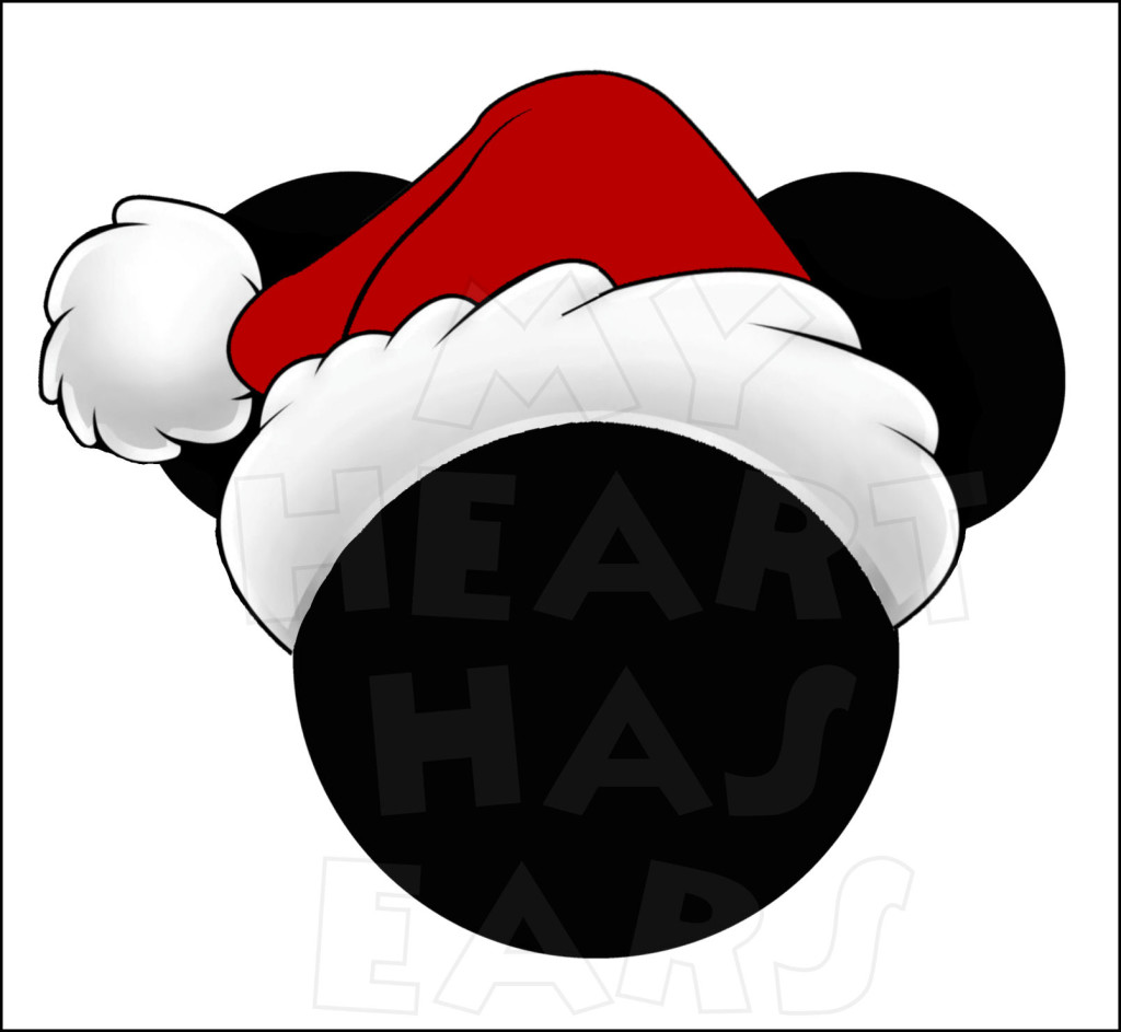 Christmas Mickey Mouse Ears Clip Art