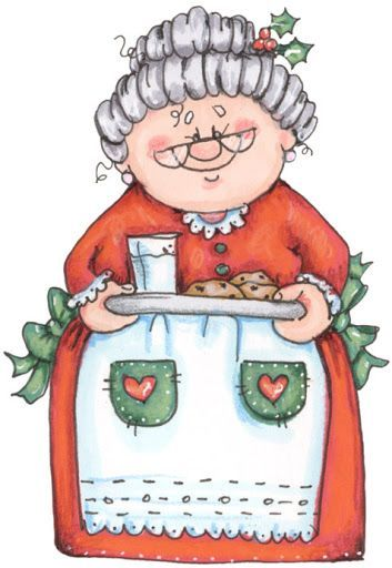 CHRISTMAS, MRS. CLAUS CLIP ART-CHRISTMAS, MRS. CLAUS CLIP ART-2
