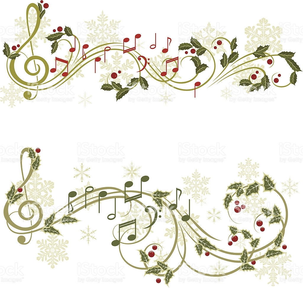 Christmas music vector art .
