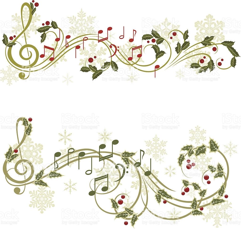 Christmas music vector art .