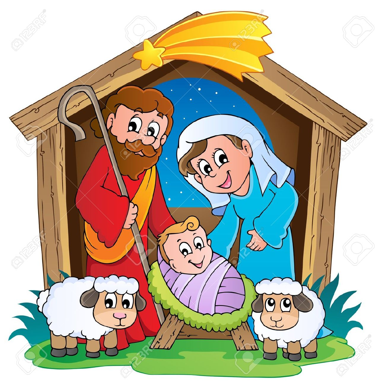 Christmas Nativity: Christmas Nativity S-christmas nativity: Christmas Nativity scene 2 Illustration-7