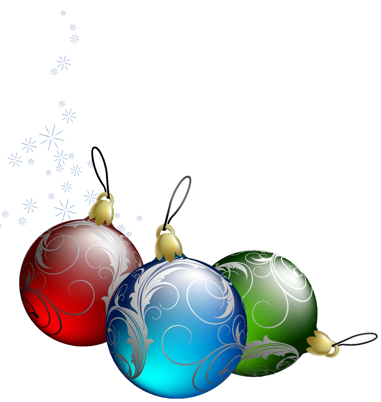 christmas ornament clip art . Tree Christmas Transparent .