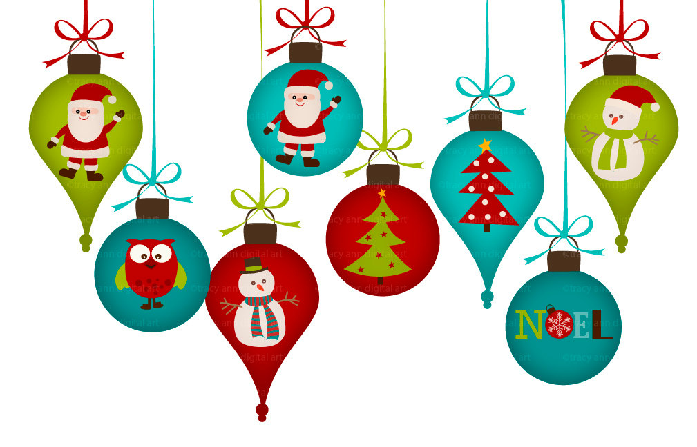 Christmas Ornament Clipart .